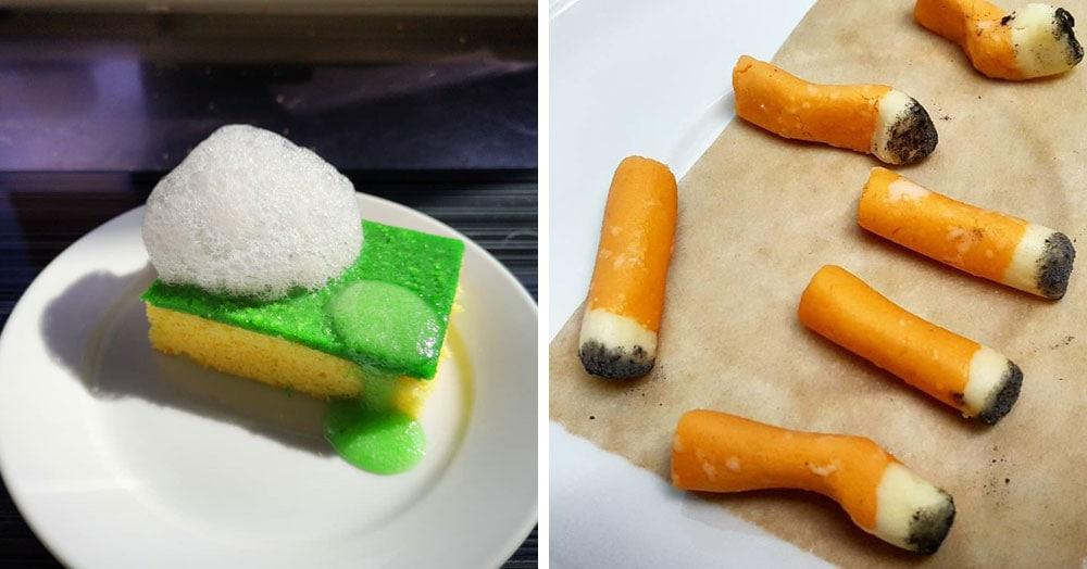 Повар создаёт десерты, которые из-за внешнего вида не каждый отважится попробовать