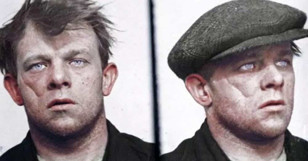 Художник раскрасил чёрно-белые фото преступников, которые орудовали в Англии в 1920-30-х годах