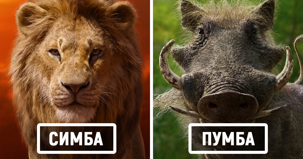 Дисней показал постеры к фильму «Король Лев», и вот как будут выглядеть его главные герои
