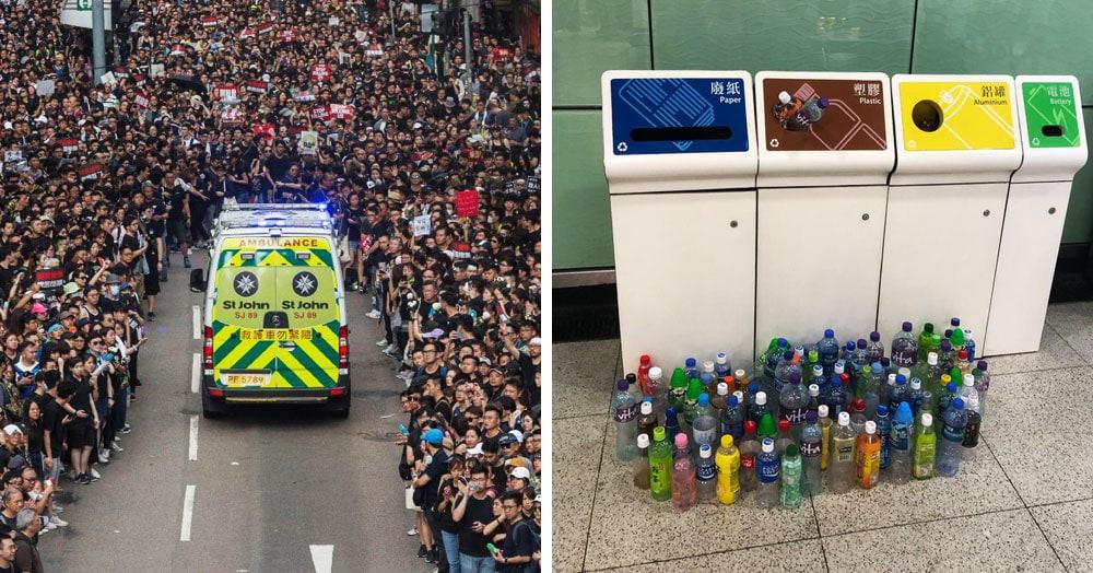 15 снимков с акции протеста в Гонконге, которые показывают дисциплину и уважение демонстрантов
