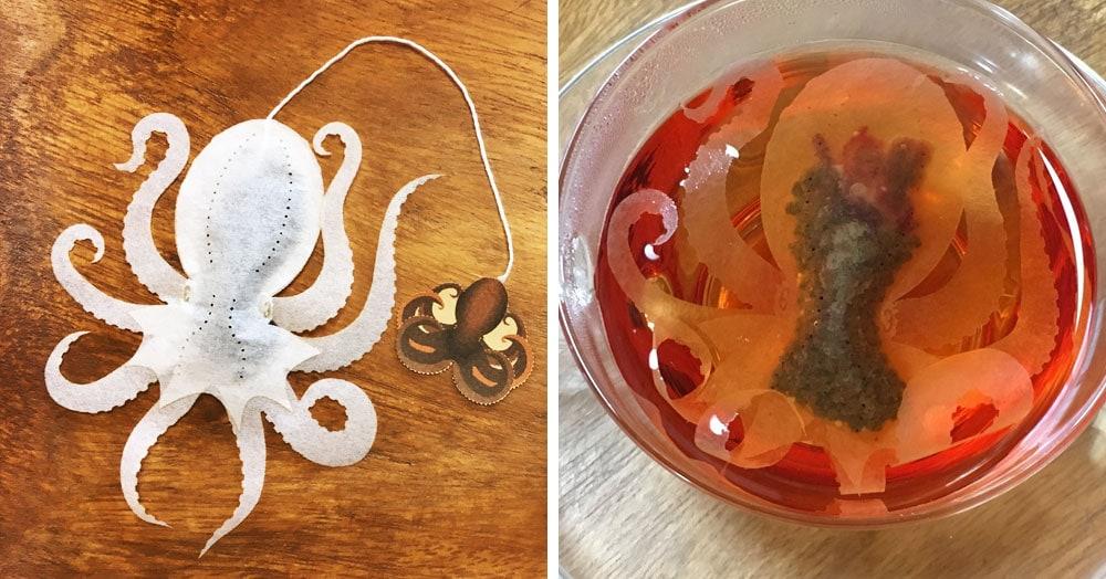 Японская компания сделала чайные пакетики в виде существ, которыми можно удивить и напугать гостей