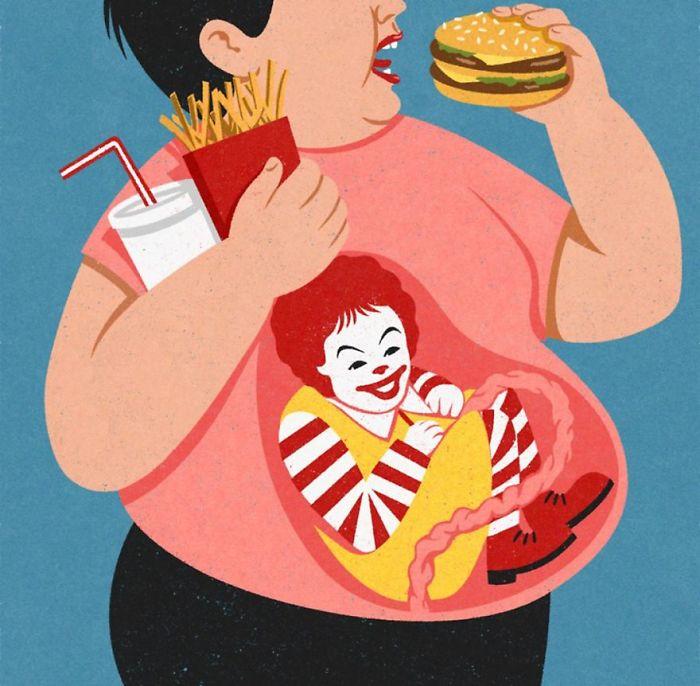 john holcroft 31 5d073dc82b605  700 - 28 злободневных иллюстраций, которые кричат о проблемах современного общества
