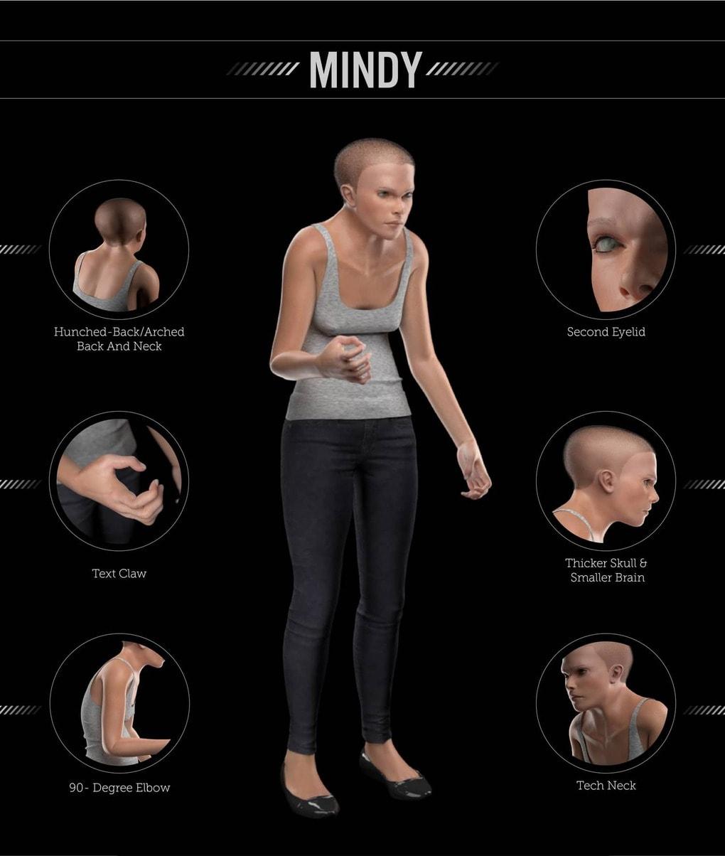 mindy detailed image - Учёные показали, как может выглядеть человек в 2100 году. Зрелище неутешительное