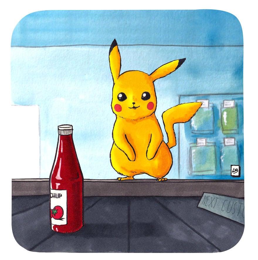 piketchup 5cfd7e25794d7  880 - Художница из Франции представила, что герои мультфильмов и комиксов купили бы в супермаркете