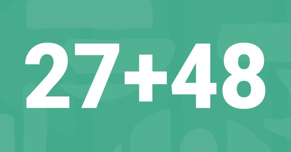В Твиттере спорят, как сложить в уме 27 и 48. Оказалось, все делают это по-разному!