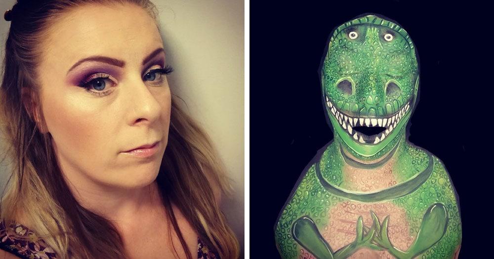 15 головокружительных 3D-иллюзий от визажистки-самоучки, которая может превратиться даже в динозавра