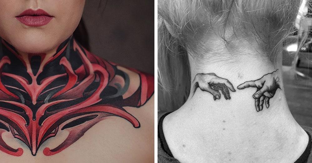 30 татуировок, которые стали украшением на шее у своих владельцев