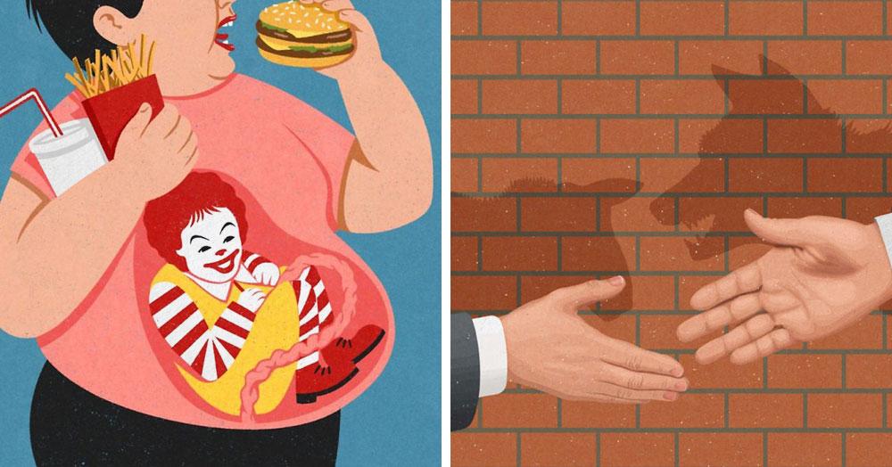 28 злободневных иллюстраций, которые кричат о проблемах современного общества