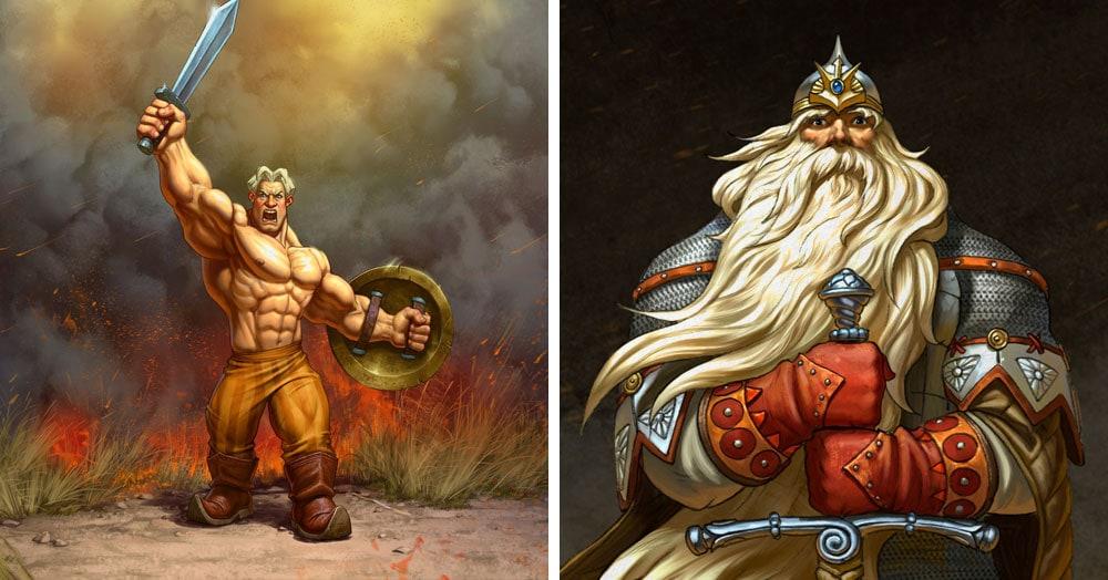 Художник из Барнаула представил русских богатырей в новых брутальных образах