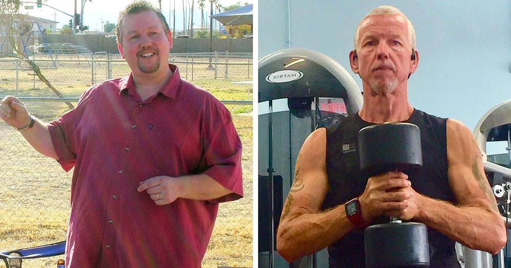 Мужчина располнел после депрессии и алкогольной зависимости. Но взял себя в руки и похудел на 78 кг
