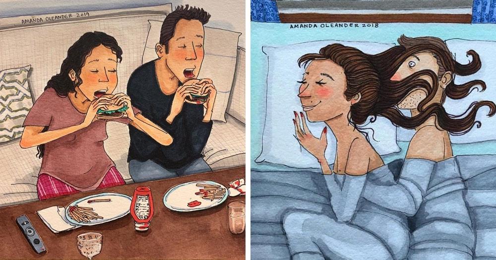 Художница из Лос-Анджелеса показывает, как ведут себя влюблённые парочки, когда их никто не видит