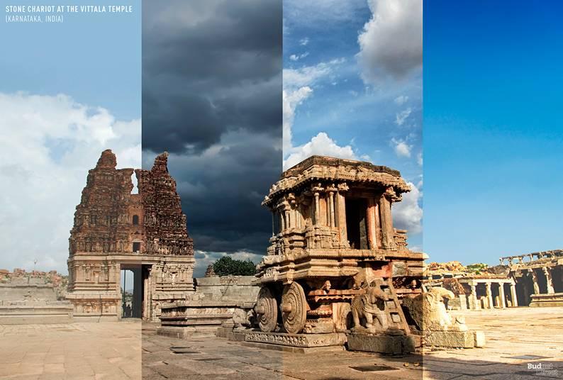 01 one photo four seasons vittala temple karnataka india 1 - Одно фото — четыре сезона: как меняются достопримечательности мира в каждое время года