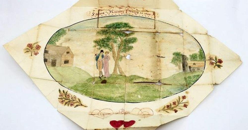 Британка перебирала вещи бабушки и нашла валентинку 19 века. За ней скрывалась трагичная история