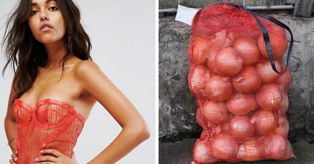 Пользователь Твиттера сравнил дизайнерское платье с сеткой для лука. Но больше его шокировала цена