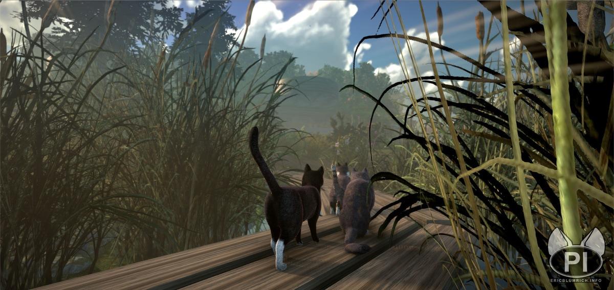 1677 - В сети появились кадры и видео из компьютерной игры про котов. Да, управлять нужно будет котами!