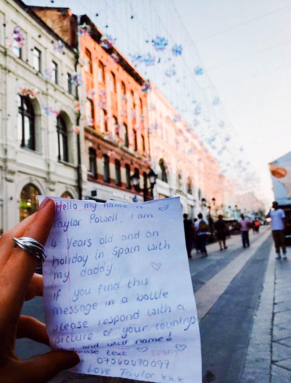 2 11 - Девочка бросила в море бутылку с письмом в Испании и вряд ли ожидала, что ей ответят. Из Москвы