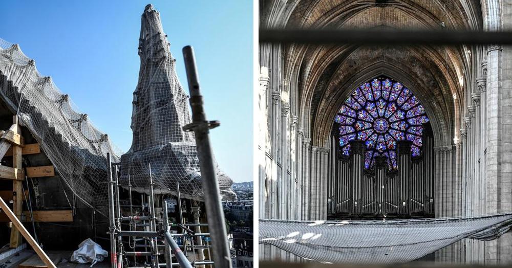 Как проходит реставрация Нотр-Дама: 18 фотографий собора спустя три месяца после пожара