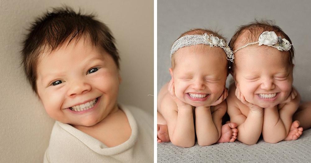 Фотограф из США приклеивает голливудские улыбки к снимкам младенцев. Зрелище, вызывающее мурашки