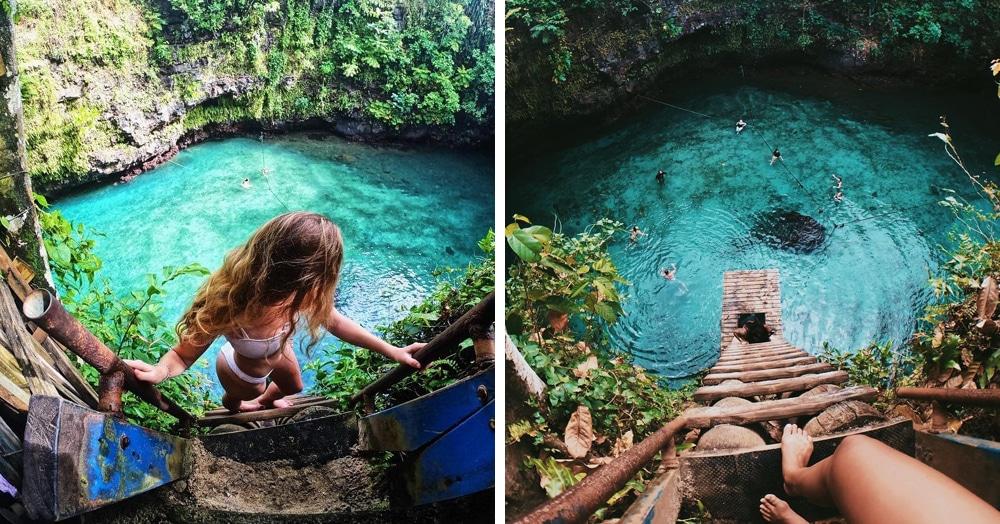 В Самоа есть бассейн, созданный самой природой. И это место, где хочется остаться навсегда