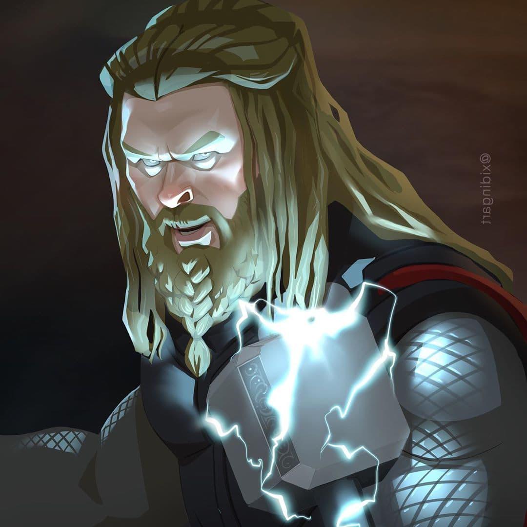 59908438 2514733471904623 4629152001855896946 n - 20 героев вселенной Марвел, которых талантливый художник превратил в яркие карикатуры
