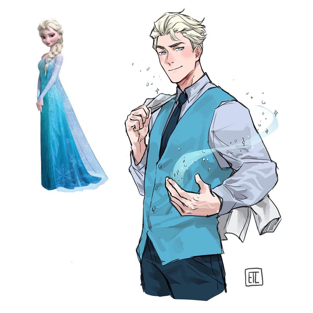64544089 2310086352417384 5711183227808503175 n - Художница представила и показала, какие парни получились бы из диснеевских принцесс