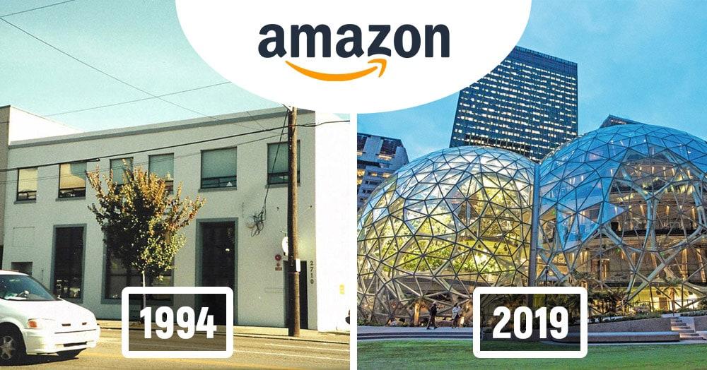 Как изменились здания офисов известных компаний. Фотографии в год основания и сейчас