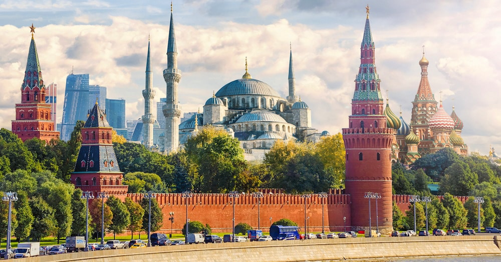 Москамбул и Дубариж: художники объединили столицы и показали, как они выглядели бы в реальности