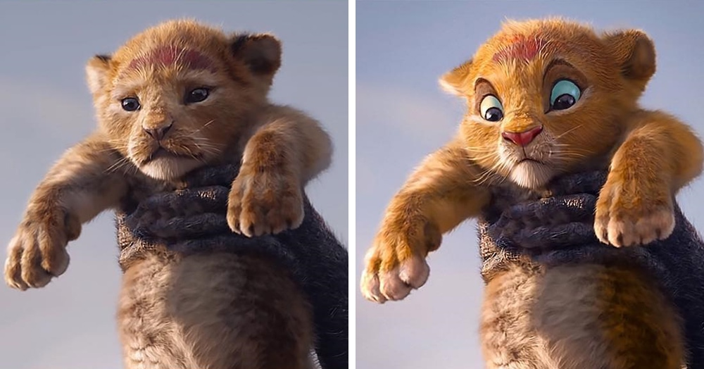 Художник решил, что героям нового «Короля Льва» не хватает мультяшных эмоций, и добавил их на кадры фильма