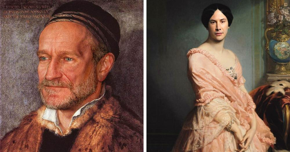 17 картин прошлого, героев которых художники заменили на знаменитостей