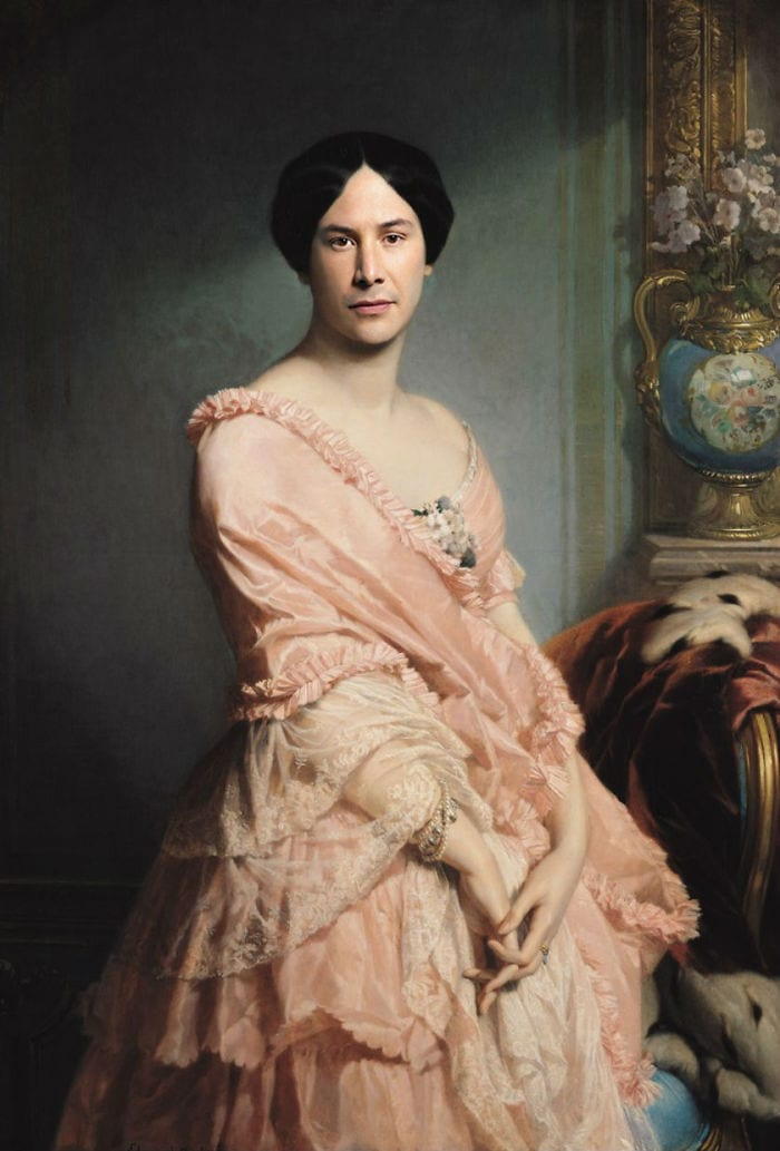 modern renaissance 5d1939c23859a  700 1 - 17 картин прошлого, героев которых художники заменили на знаменитостей