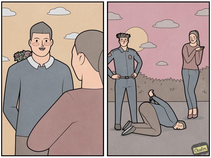 opkt874wj9q - 25 остроумных комиксов с непредсказуемым сюжетом и тонким юмором