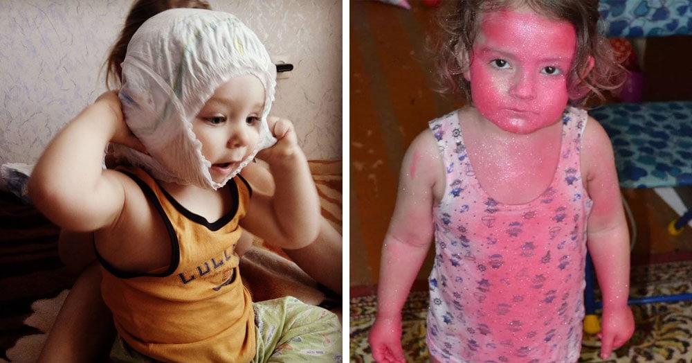 20 фотографий, которые иллюстрируют последствия пятиминутного затишья маленьких детей