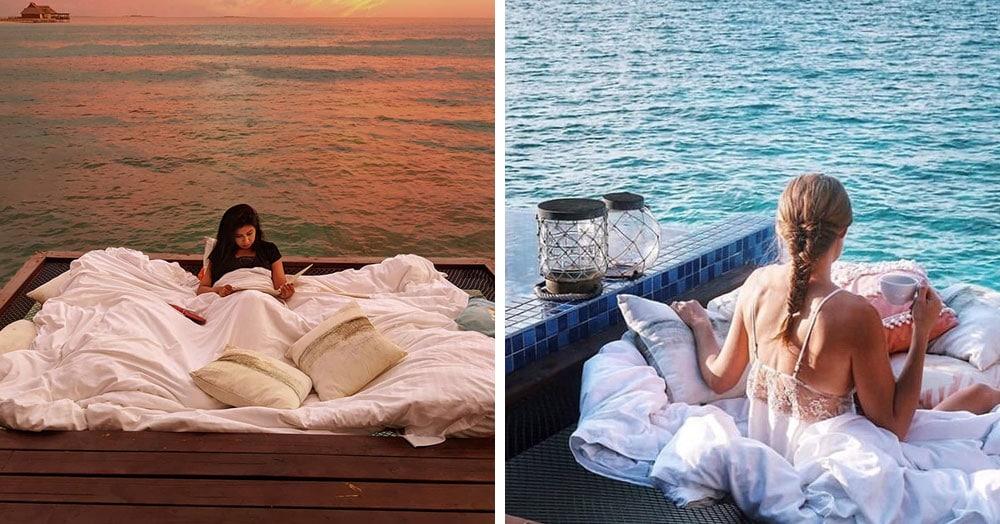 Отель на Мальдивах предлагает гостям за 400$ спать под открытым небом прямо над Индийским океаном