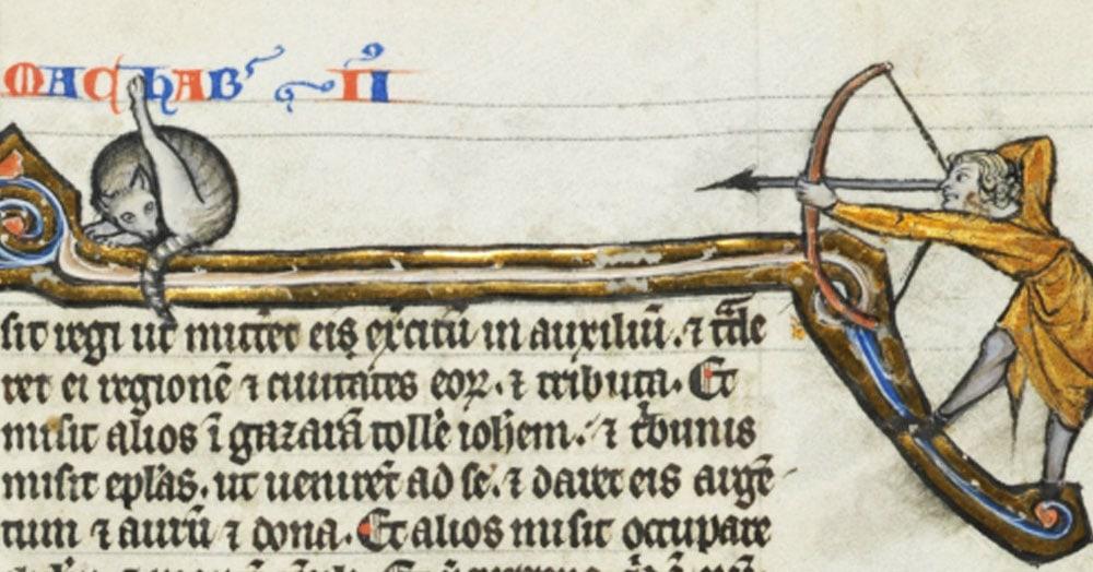 В сети заметили, что средневековые художники часто рисовали кошек. Но почему-то за одним и тем же занятием