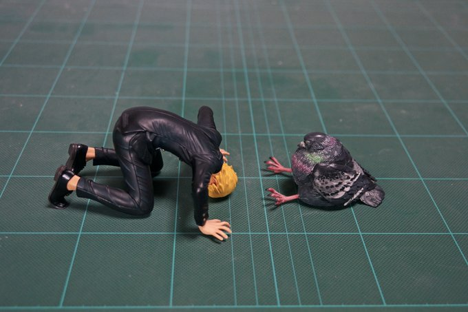 1564993879 91642c69ec011a0b16e3d94a39e46878 - 20 работ от японца, который превращает мемных животных в смешные фигурки
