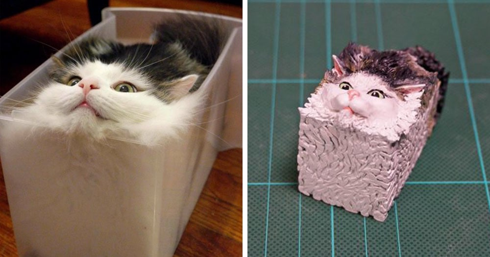 20 работ от японца, который превращает мемных животных в смешные фигурки
