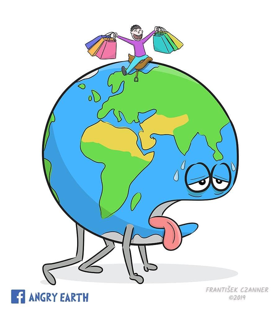1565100566 4dce4a8524631e0f70165a7a44b248ca - «Рассерженная Земля»: серия рисунков, которые заставляют задуматься о судьбе нашей планеты