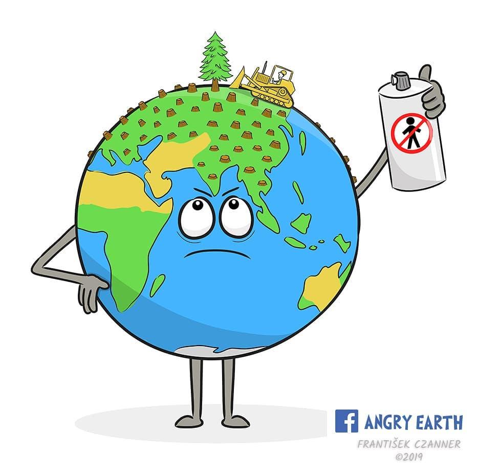 1565100568 28eb9174f5aac49a66184348bbf78370 - «Рассерженная Земля»: серия рисунков, которые заставляют задуматься о судьбе нашей планеты