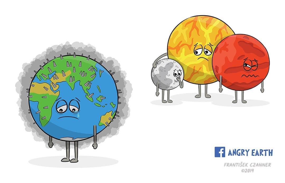 1565100572 c593452b7084e61432ccdf86657c0d9f - «Рассерженная Земля»: серия рисунков, которые заставляют задуматься о судьбе нашей планеты