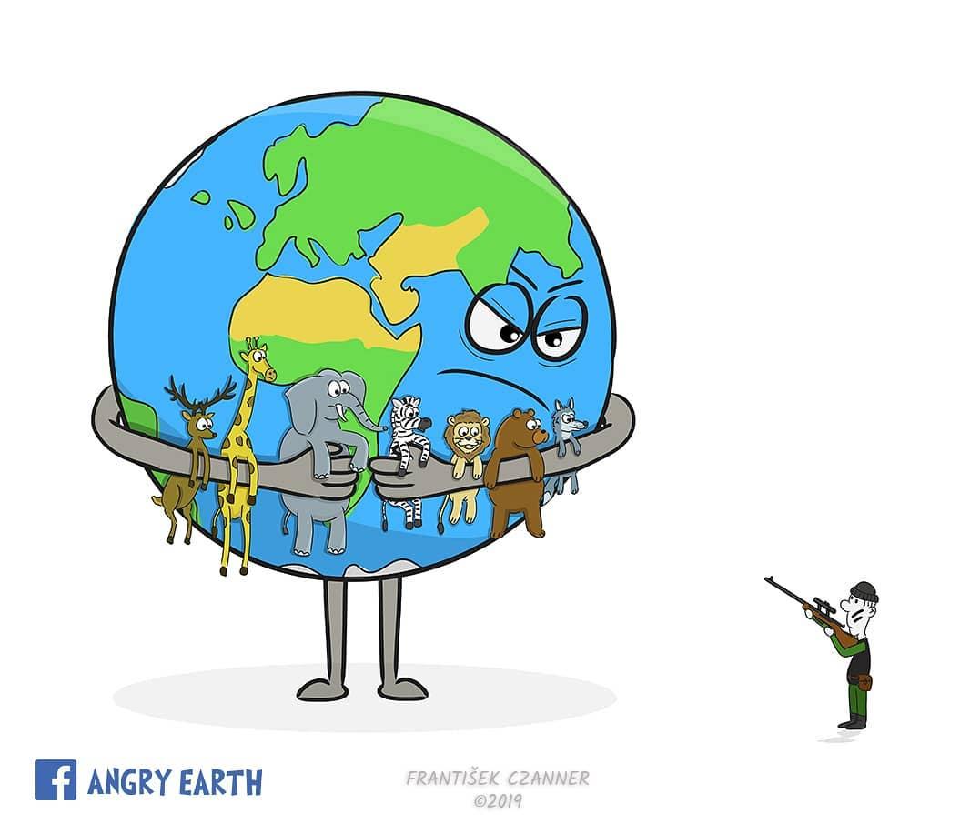 1565100573 9e7329a2f0f11873db1996dfcd66177b - «Рассерженная Земля»: серия рисунков, которые заставляют задуматься о судьбе нашей планеты