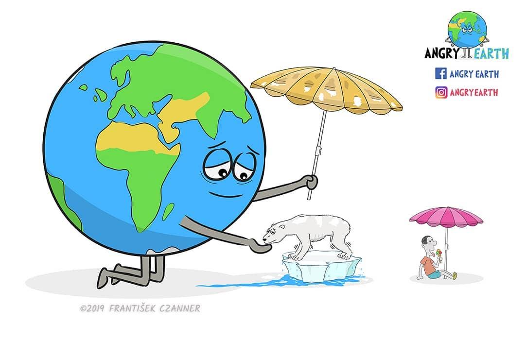 1565100574 fa3d61f8c255f28f6cf4c6f6402071c5 - «Рассерженная Земля»: серия рисунков, которые заставляют задуматься о судьбе нашей планеты