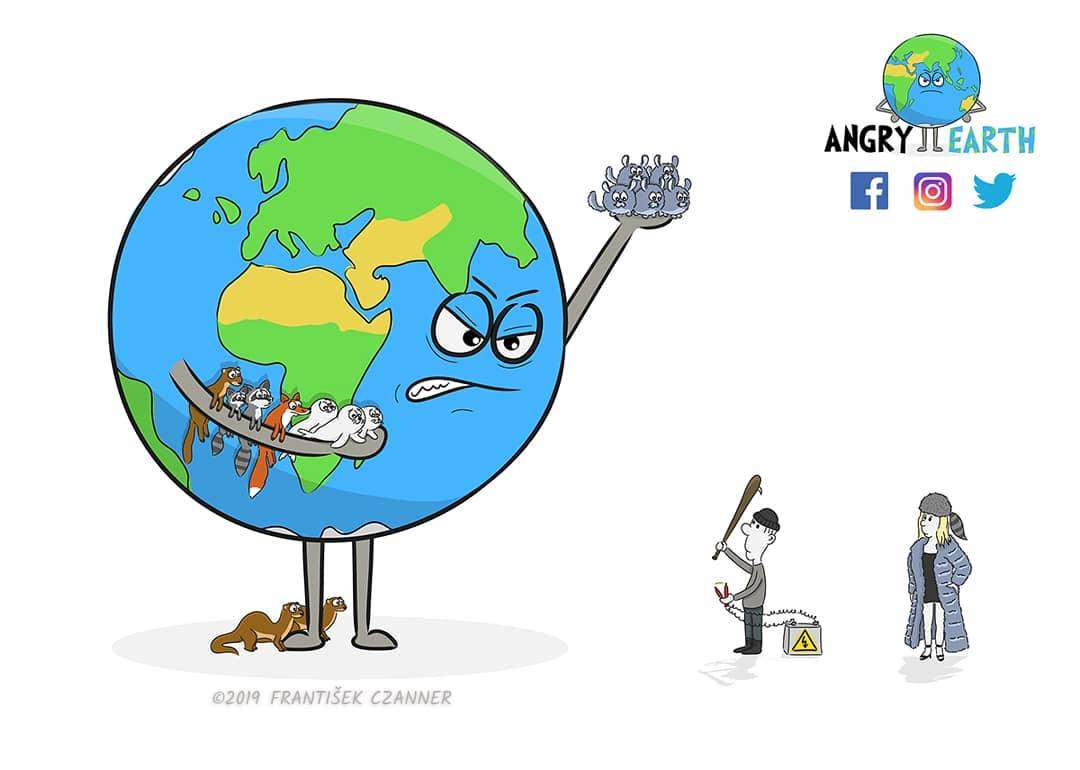 1565100579 b9a74cf914349e60a7e1e1dab30ddfdc - «Рассерженная Земля»: серия рисунков, которые заставляют задуматься о судьбе нашей планеты