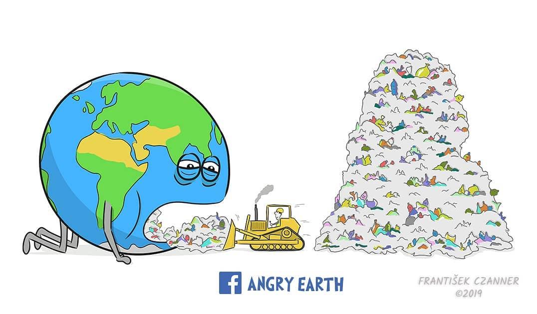 1565102267 1e91e35e4397584411bc03db5a3a5279 - «Рассерженная Земля»: серия рисунков, которые заставляют задуматься о судьбе нашей планеты