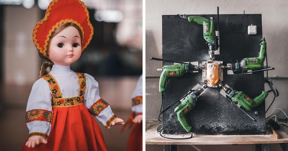 Фотограф показал, как выглядит производство кукол на фабрике игрушек — это и пугающе, и круто
