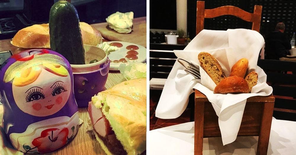 20 ресторанов, которые не знают, что такое тарелки, и подают блюда в самых непредсказуемых предметах