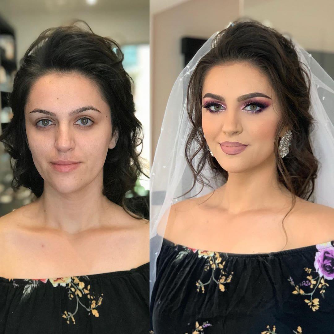 1565271396 38d4bad9cec086b2aa7419b92d11a99d - 18 прекрасных преображений до и после того, как невесты побывали в руках талантливого визажиста
