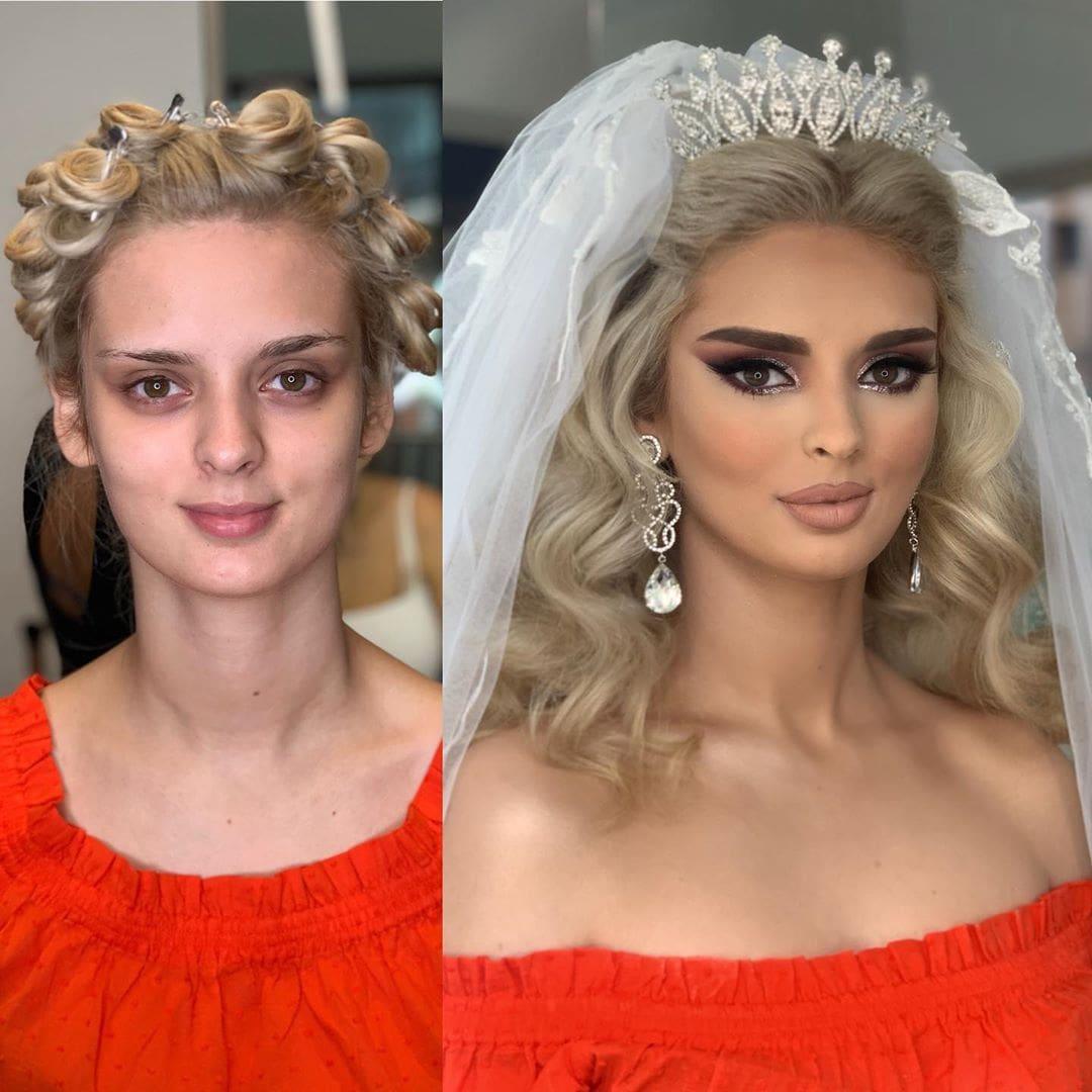 1565271398 d2b0fbfa0cbbb97318f9f87ec231b15f - 18 прекрасных преображений до и после того, как невесты побывали в руках талантливого визажиста