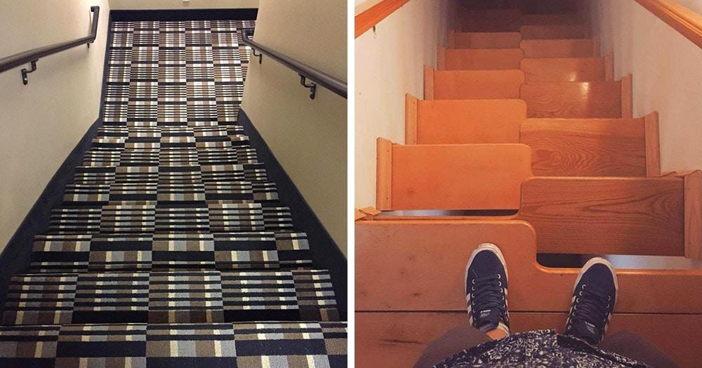 18 дизайнов лестниц, которые будто специально были созданы для падений