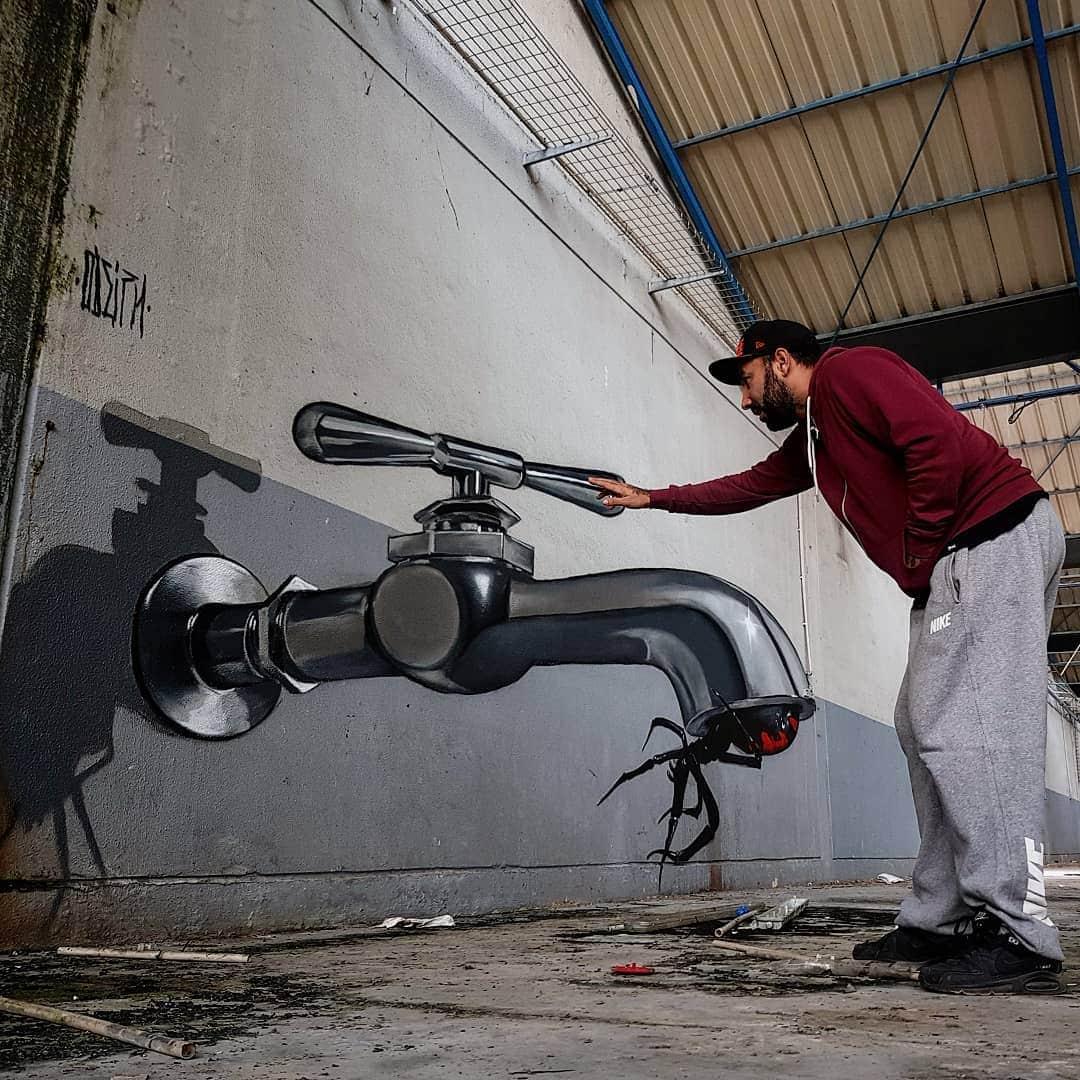 1565697702 97a46d36b2f76daa4cd12828a9ab6b4e - 20 работ художника, который превращает невзрачные стены в невероятно реалистичные 3D-граффити