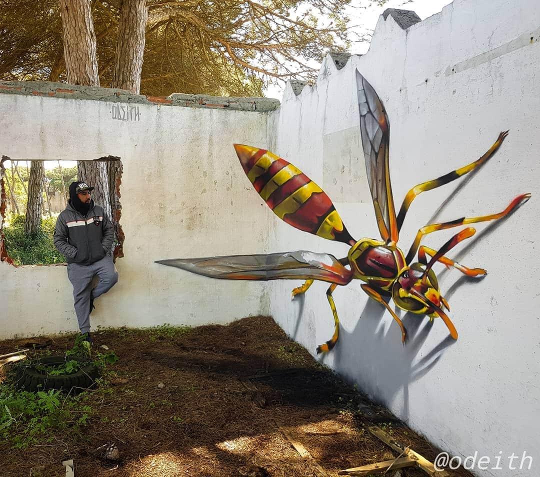 1565697705 319c2203295c8cea783e528d13791f42 - 20 работ художника, который превращает невзрачные стены в невероятно реалистичные 3D-граффити